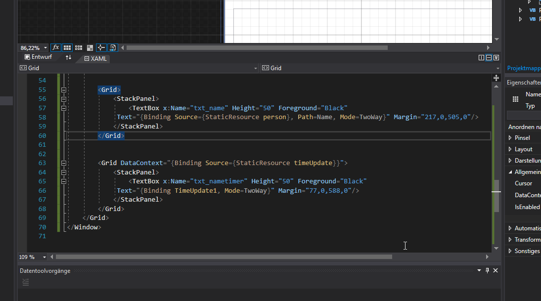 VB.Net WPF einfaches DataBinding mit INotifyPropertyChanged