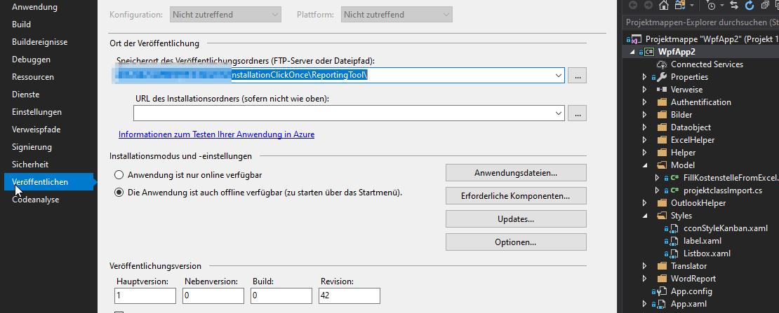 ClickOnce WPF mit Entity-Framework Mysql C# – Startet nicht